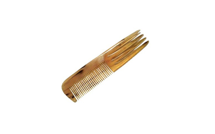 Atelier La Licorne Horn comb with fork  180 x 40 mm