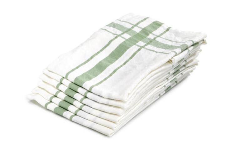 Libeco linen kitchen towel green 70 cm x 70 cm
