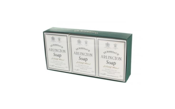 D.R. Harris Arlington Bath Soap - Box of  3 x 150 gr