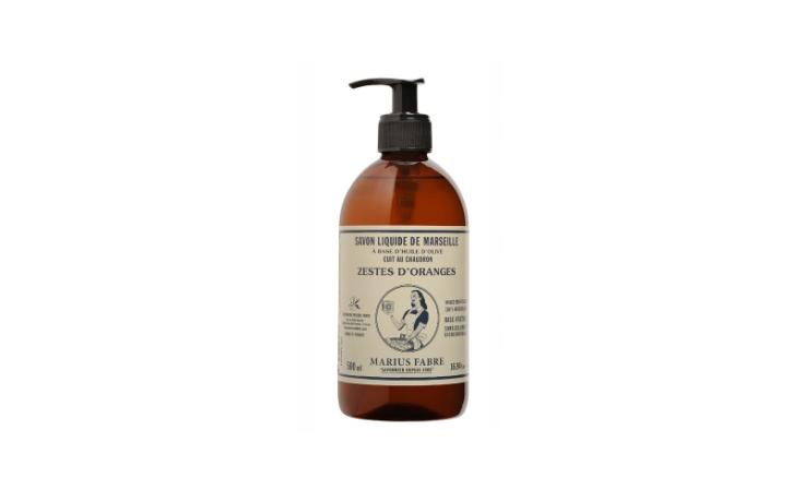 Marius Fabre Essential oil liquid Marseilles soap, orange zest fragrance 500 ml