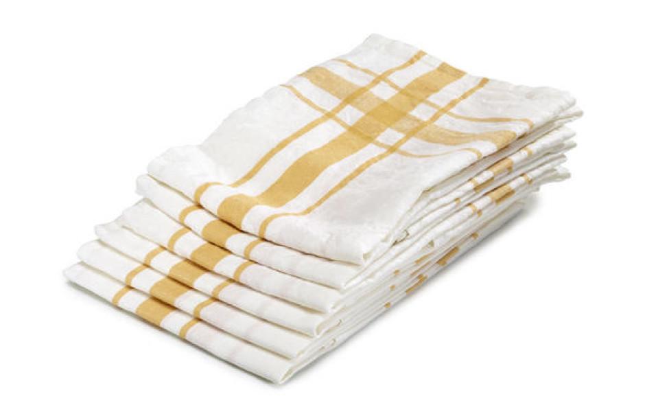 Libeco linen kitchen towel yellow 70 cm x 70 cm