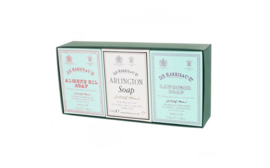 D.R. Harris Almond, Arlington, Lavender Bath Soap - 3 x 150 gr