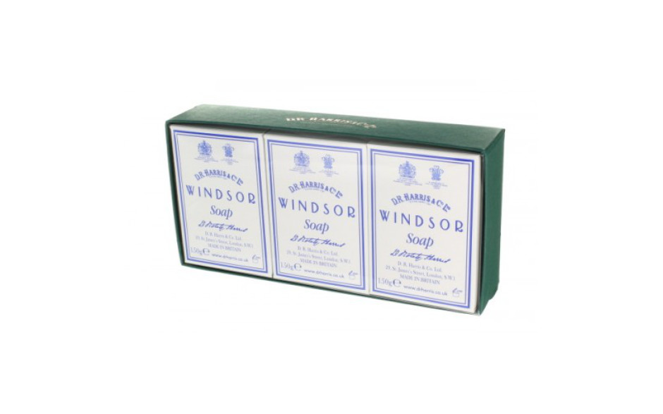D.R. Harris Windsor Bath Soap - Box of  3 x 150 gr