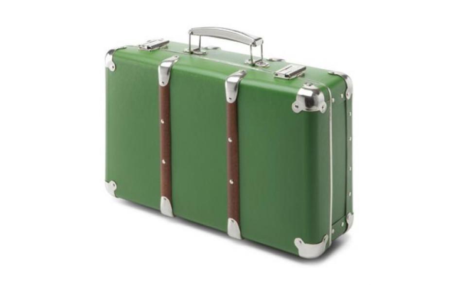Kazeto Cardboard suitcase green 40 cm