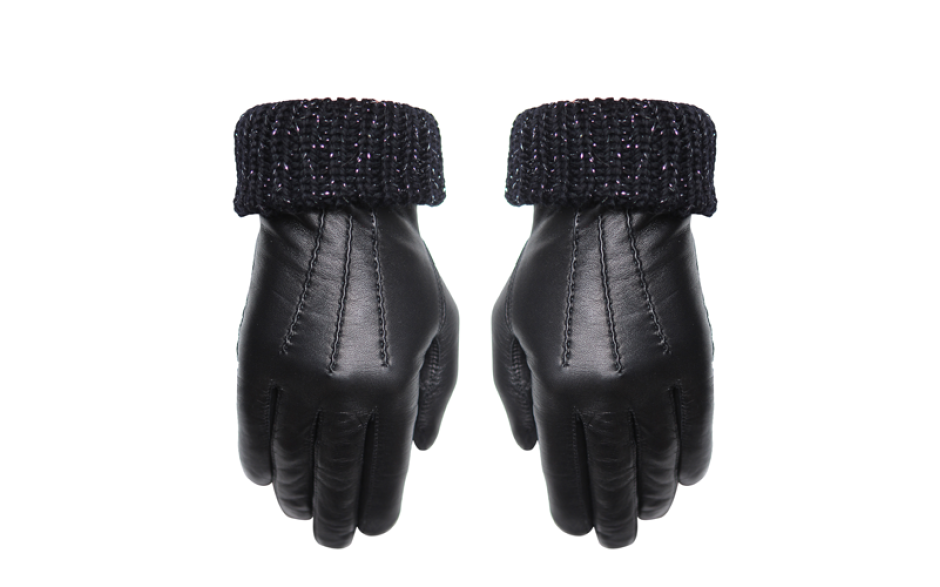 Maison Fabre Ribbed black, Cashmere lining