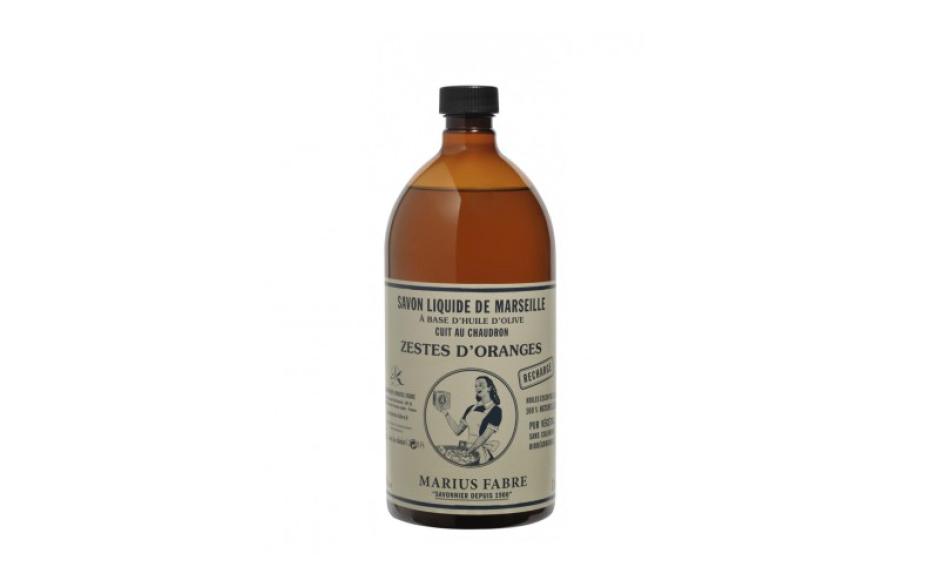 Marius Fabre Essential oil liquid Marseilles soap, orange zest fragrance 1 L