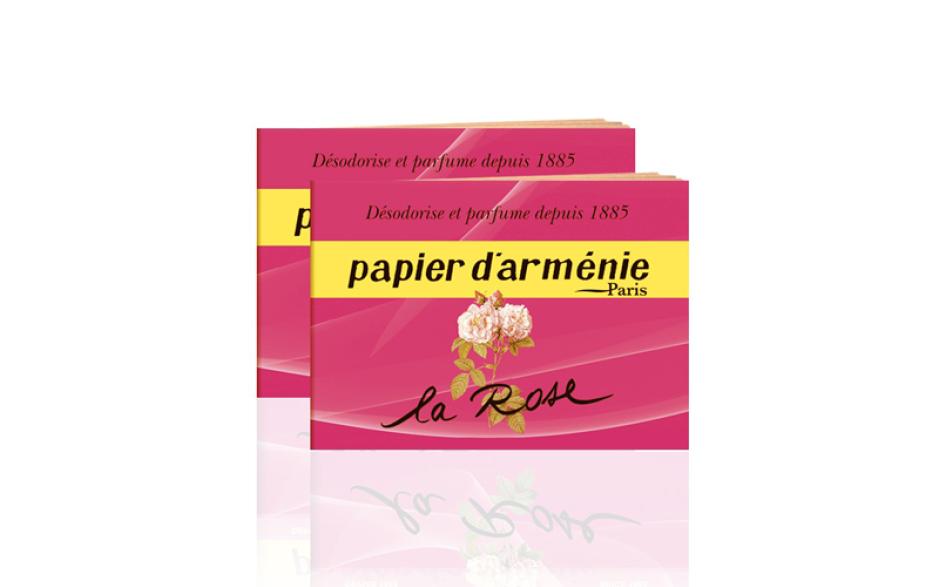 Papier d'Arménie booklet Rose