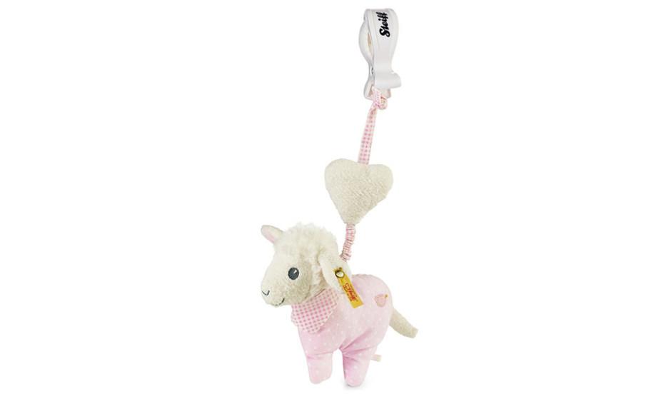 Steiff Sweet dreams lamb pendant, pink 14 cm