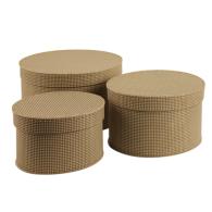 Kazeto Cardboard oval boxes 25, 29 & 33 cm