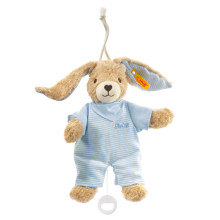 Hoppel rabbit music box blue, 20 cm
