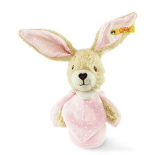Steiff Hoppel rabbit grip toy, rustling foil 15 cm