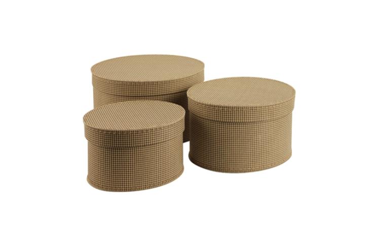 Boites de rangement en carton ovales 25, 29 & 33 cm Kazeto
