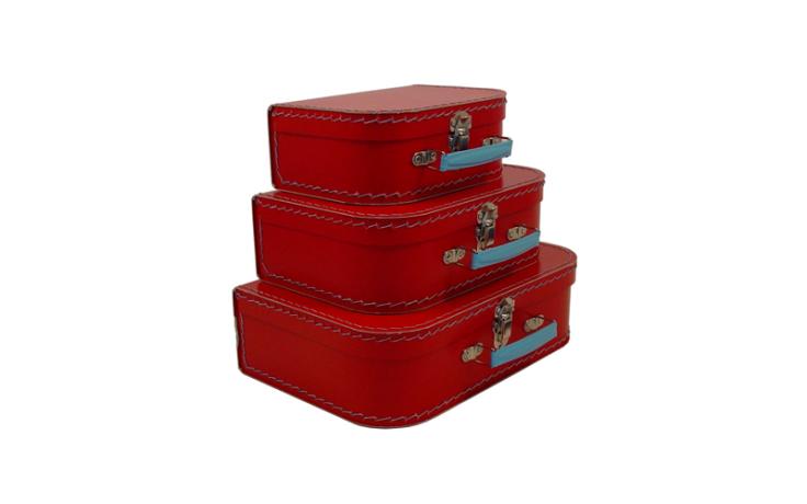 Valise rouge en carton pour enfant Kazeto