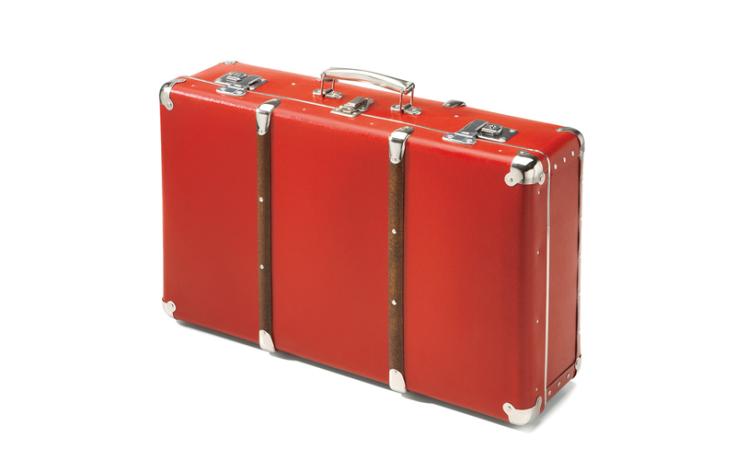 Valise rouge en carton 55 cm Kazeto