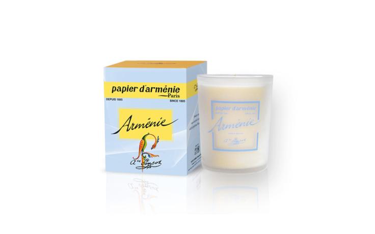 Bougie parfumée Arménie, Papier d'Arménie
