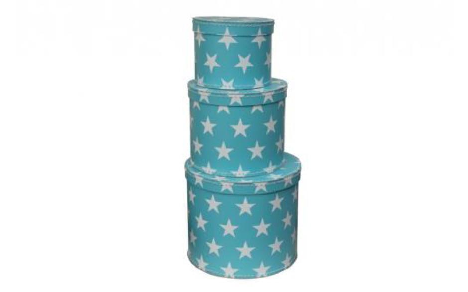 Boites de rangement bleue avec des étoiles blanches Kazeto