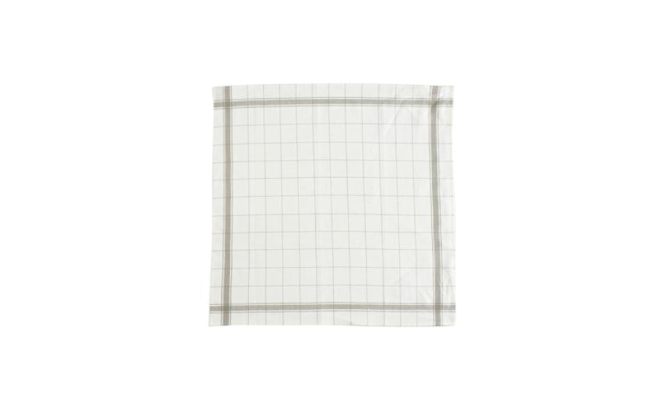 Libeco Essuie de cuisine en lin, bords gis 70 cm x 70 cm