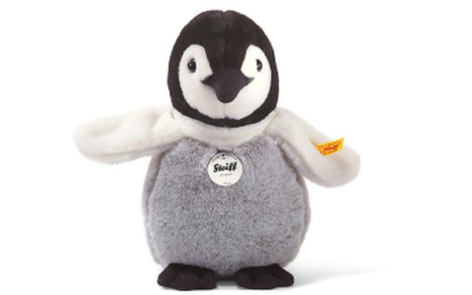 Steiff Flaps bébé pingouin, noir blanc et gris 20 cm