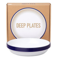 Falcon Deep Plate Set bleu
