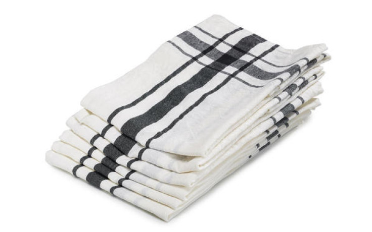 Libeco linen kitchen towel black 70 cm x 70 cm