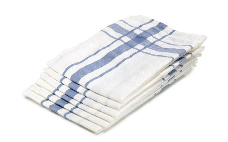 Libeco linen kitchen towel blue 70 cm x 70 cm
