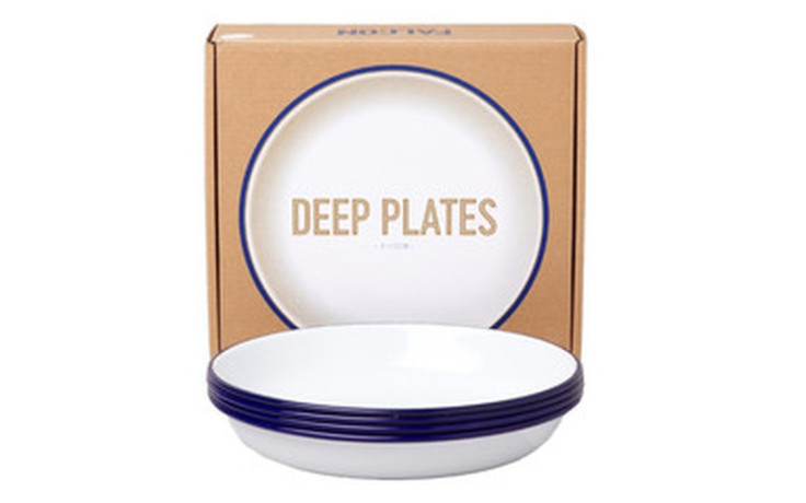 Falcon Deep Plate Set blue