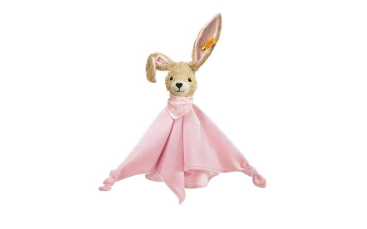 Steiff Hoppel rabbit comforter pink 28 cm