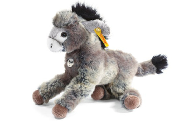 Steiff Little friend Issy donkey, grey beige 24 cm