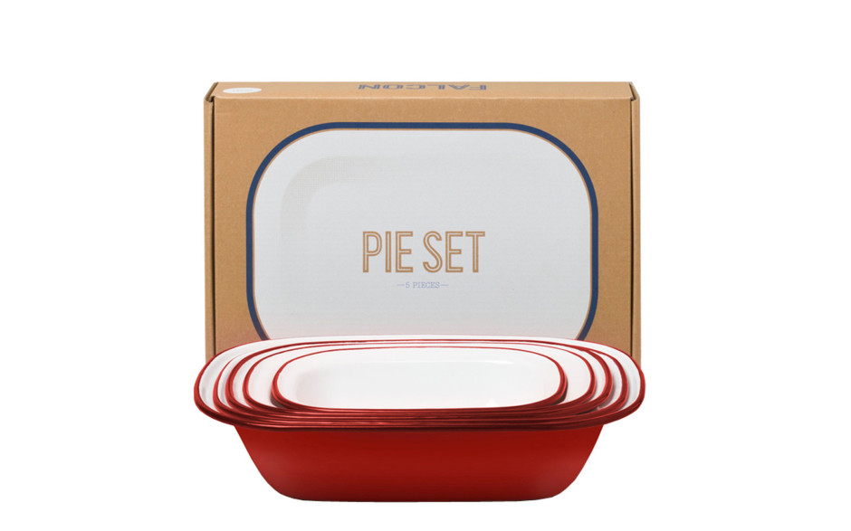 Falcon Pie Set red