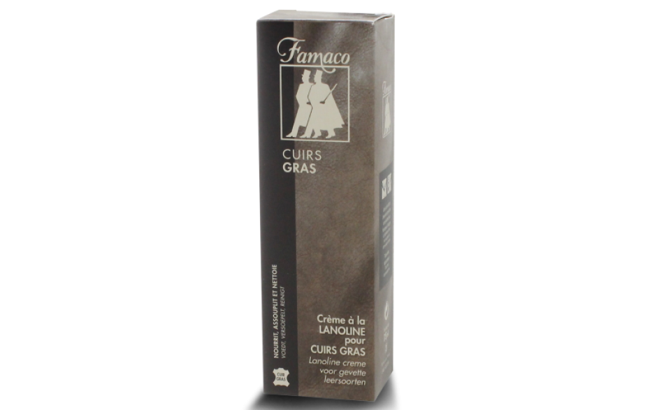 Famaco Shoes Oily leather cream tube with applicator 100 ml