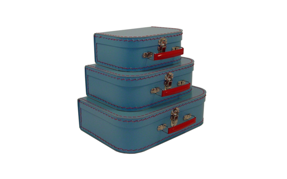 Kazeto cardboard suitcase kids light blue