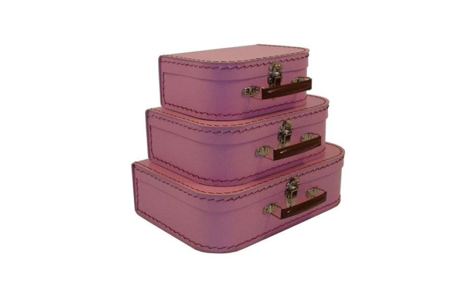 Kazeto cardboard suitcase kids pink