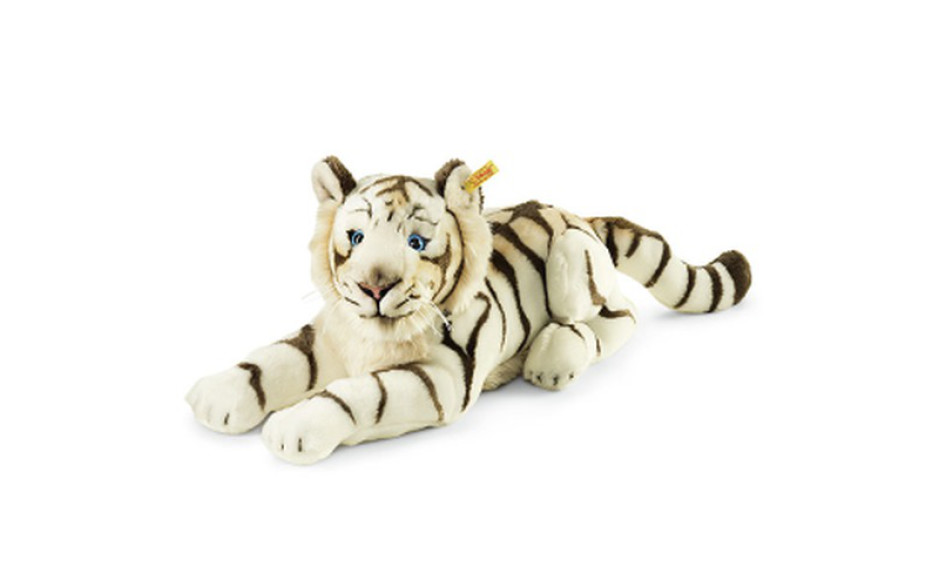 Steiff Bharat, the white tiger, striped white 43 cm
