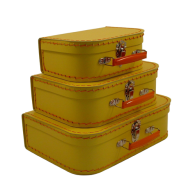 Kazeto cardboard suitcase kids yellow