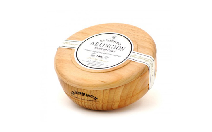 D.R. Harris Savon de rasage Arlington dans son bol en bois de hêtre, 100 g