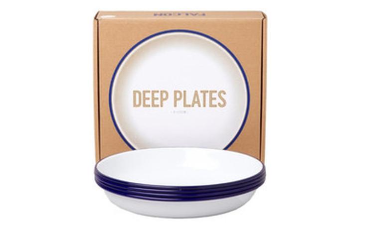 Falcon Deep Plate Set bleu