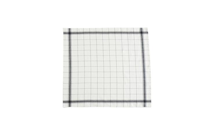 Libeco Essuie de cuisine en lin, bords noirs 70 cm x 70 cm