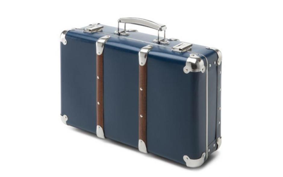 Valise bleue en carton 40 cm Kazeto