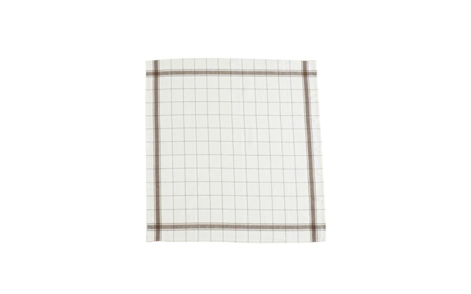 Libeco Essuie de cuisine en lin, bords bruns70 cm x 70 cm