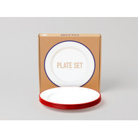 Falcon Plate set rouge