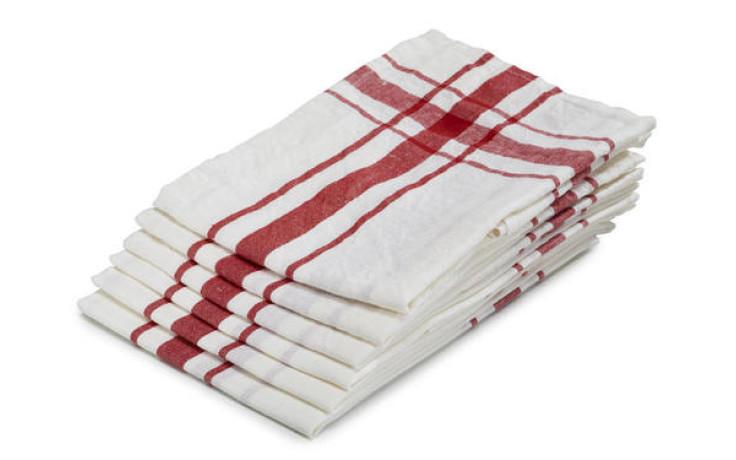 Libeco linen kitchen towel red 70 cm x 70 cm