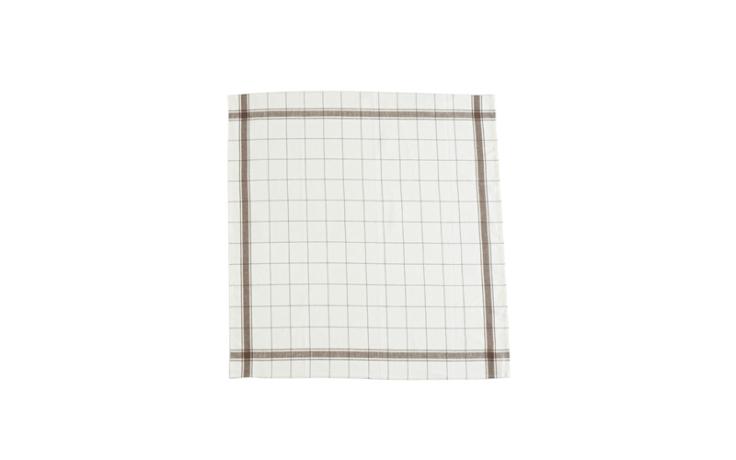 Libeco linen kitchen towel brown 70 cm x 70 cm