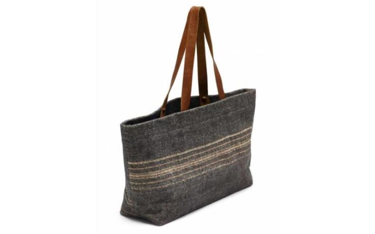 Libeco Cassablanca stripe shoulder bag 35 x 46 x 15 cm