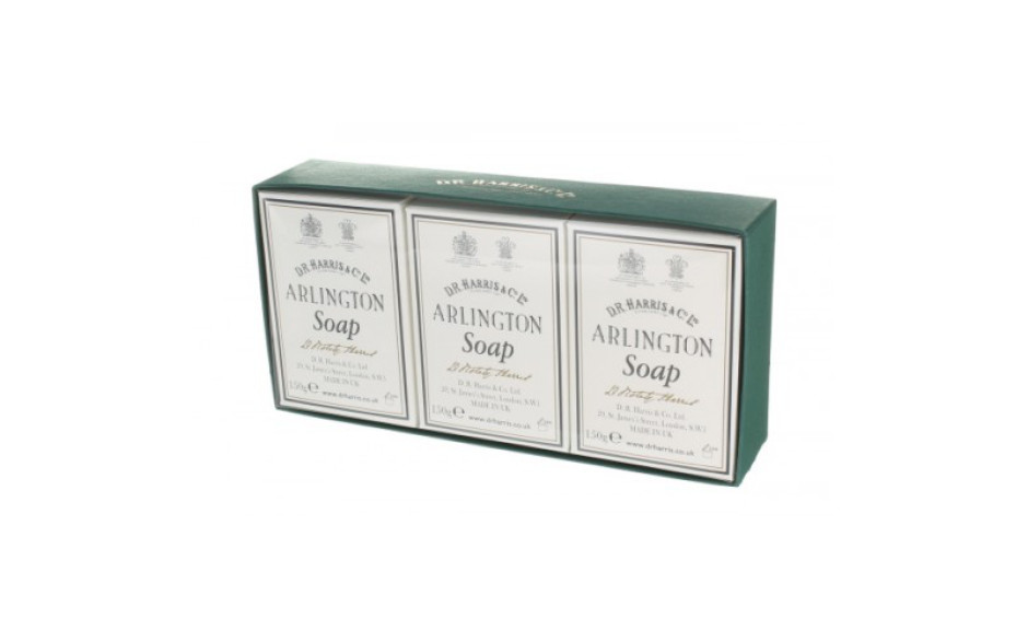 D.R. Harris Arlington Bath Soap - Box of  3 x 150 gr