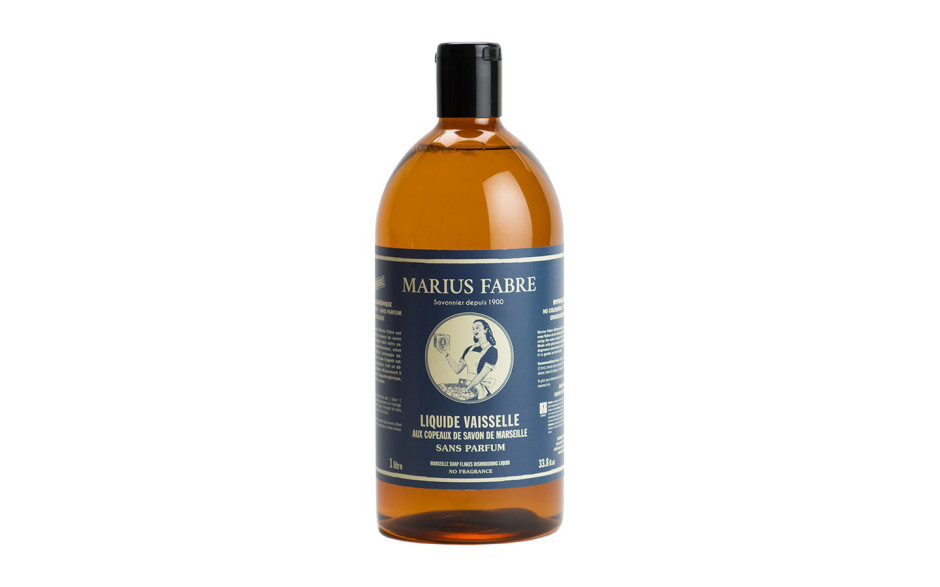 Marius Fabre Marseille soap flakes dishwashing liquid, no fragrance, 1 L refill
