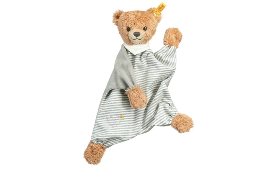 Steiff sleep well bear comforter grey 30 cm