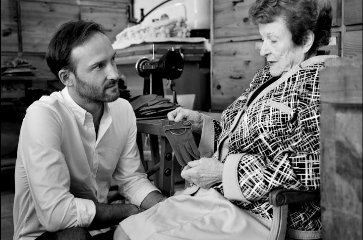 Oliver Fabre and his grandmother